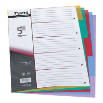 Разделитель страниц цветовой 5 страниц 5 цветов пласт.