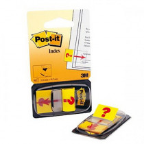 "Закладки Post-it INDEX 25,4*43,2мм., 50 листов, ""?"", желт."