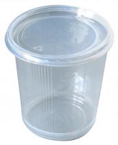 Контейнер для продуктов одноразовый стакан пластик. с крышкой 100шт./уп.